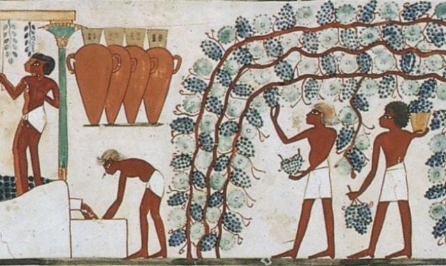 El vino en el Antiguo Egipto