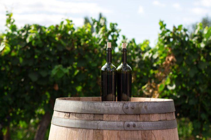 Embotellamiento del vino y el uso de vapor