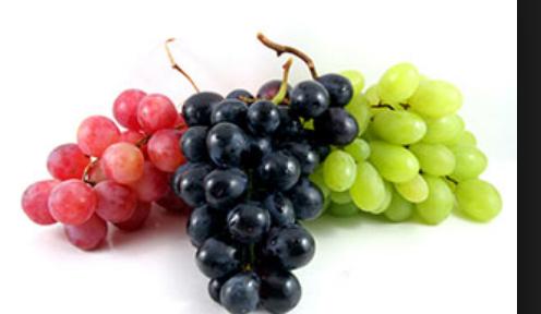 Calorías uvas