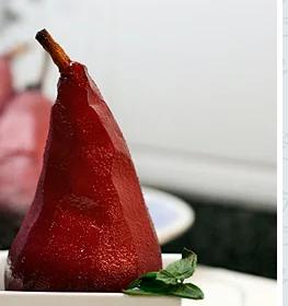 Exquisita receta de peras al vino